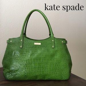 Kate Spade Stevie Carlsbad Croc Embossed Tote